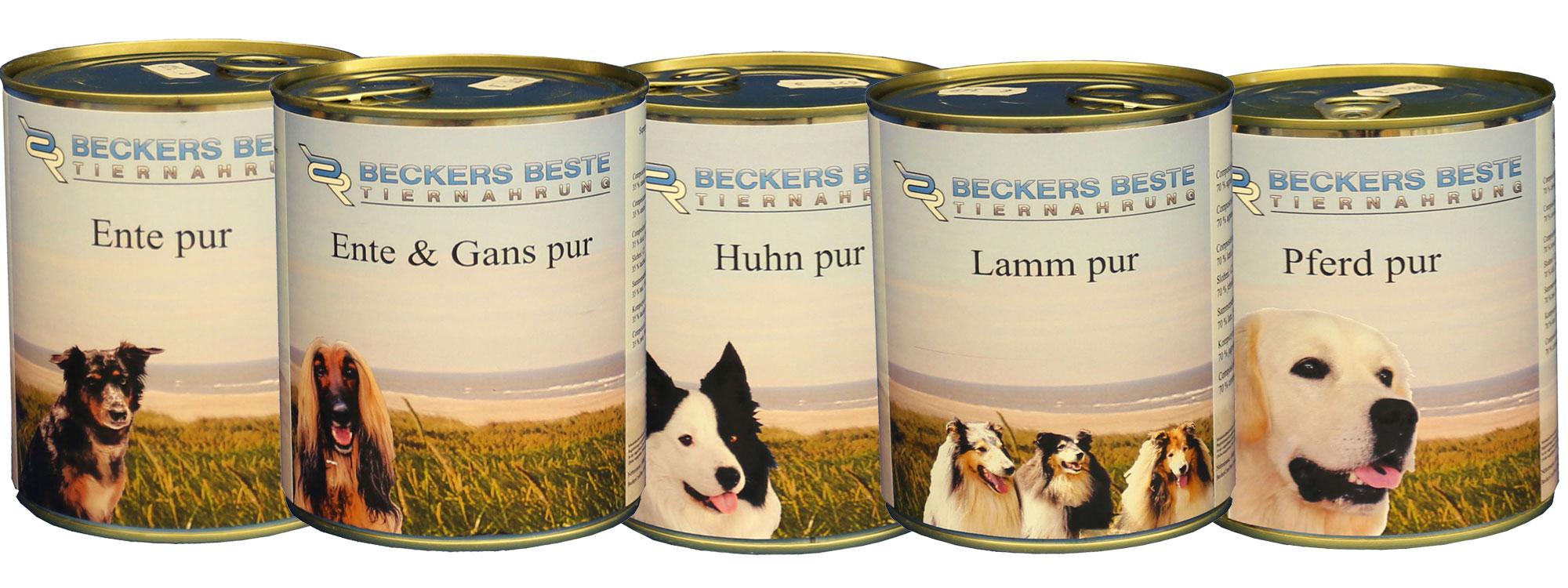 Beckers Beste Tiernahrung 10 x 800g Nassfutter Set