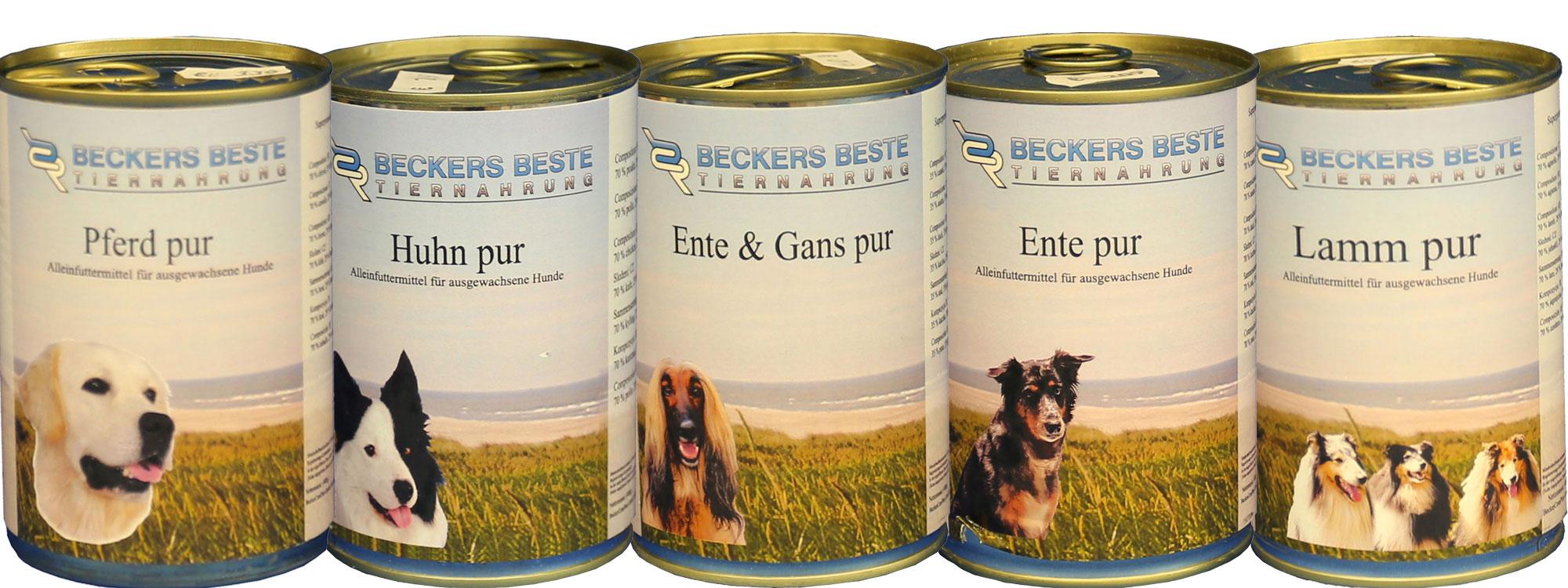 Beckers Beste Tiernahrung 14 x 400g Nassfutter Set